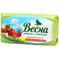 Весна Земляника со сливками Мыло туалетое 90 гр