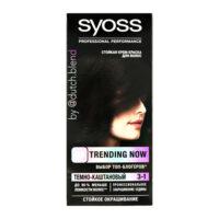 Syoss 3-1 темно-каштановый крем-краска для волос