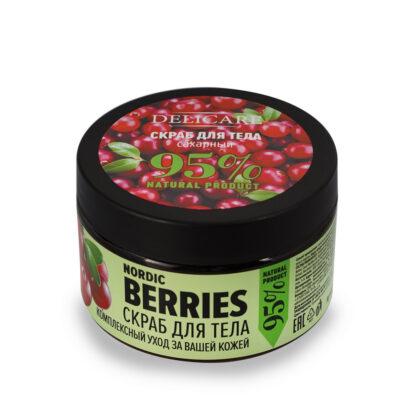 Delicare Северные ягоды сахарный скраб для тела 250 мл