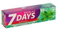 7 days Rezolut Свежая мята Защита от кариеса Зубная паста 100 мл