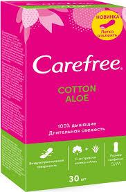 Carefree cotton Aloe ежедневные Прокладки 30 шт