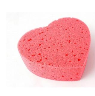 Coral губка банная в форме сердца