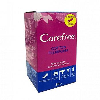 Carefree coton flexiform воздухопроницаемая поверхность ежедневные Прокладки 30 шт