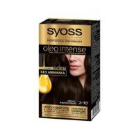 Syoss oleo intense 2-10 черно-каштановый с ухаживающим маслом без аммиака стойкая краска для волос