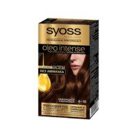 Syoss oleo intense 4-18 шоколадный каштановый с ухаживающим маслом стойкая краска для волос