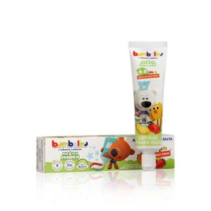 Bambolina for kids ми ми мишки со вкусом банана и клубники от 4 до 8 лет детская зубная паста 50 мл