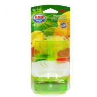 Kloger Aktiv цитрусовый микс 4 в 1 с омывающей жидкостью туалетный блок 2*55 мл