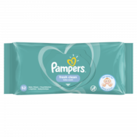 Pampers fresh clean baby scent Влажные салфетки  52 шт
