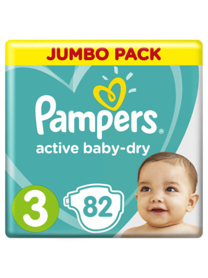 Pampers active baby-dry подгузники 3 (6-10 кг) 82 шт