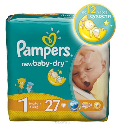 Pampers active baby-dry подгузники 1 (2-5 кг) 27 шт