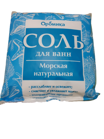 Aromika Морская натуральная Соль для ванн 1000 гр