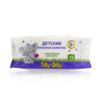 Tilly-Dilly с экстрактом алоэ вера детские влажные салфетки 72 шт