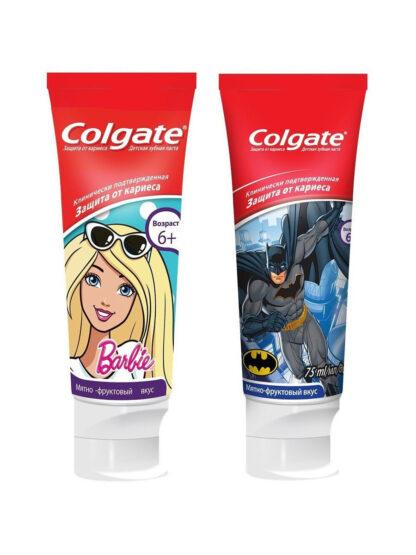 Colgate Защита от кариеса со вкусом клубники и киви 6 + детская Зубная паста 75 мл