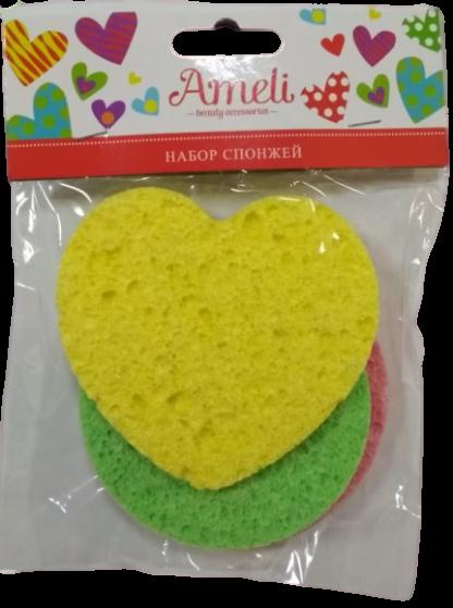 Ameli целлюлозный для макияжа спонж 3 шт