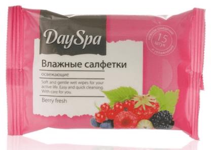 DAY SPA Berri Fresh Освежающие влажные Салфетки 15 шт