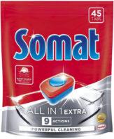 Somat All in 1 Extra средство для мытья посуды в посудомоечных машинах в форме таблеток 45 шт