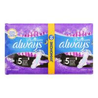 ALWAYS Platinum ultra ночные экстра защита размер 5 Прокладки 10 шт