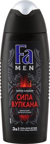 Fа Men Сила Вулкана энергичный дерзкий аромат  3 в 1тело-лицо-волосы Гель для душа  250 мл