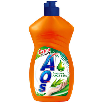 AOS Extra power бальзам алоэ вера средство для мытья посуды 450 мл