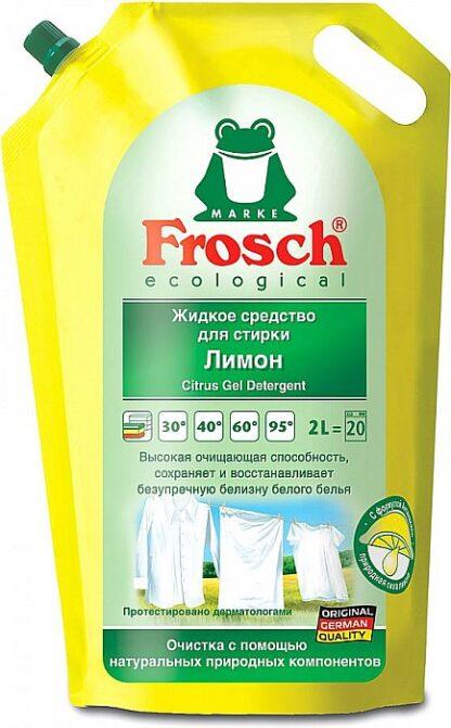 Frosch ecologial Лимон Жидкое Средство для стирки белого белья 2000 мл