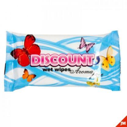 DISCOUNT без запаха Салфетки влажные 15 шт