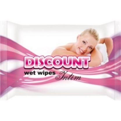DISCOUNT Влажные салфетки для интимн гигиены 15 шт