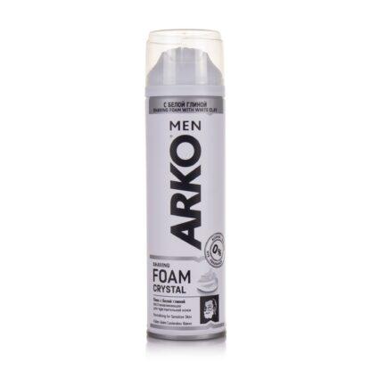 ARКО Crystal с белой глиной Пена для бритья 200 мл