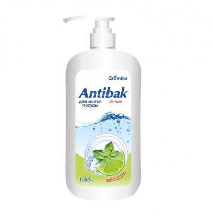 Aromika Antibak de luxe лайм и мята  средство для мытья посуды 1100 мл