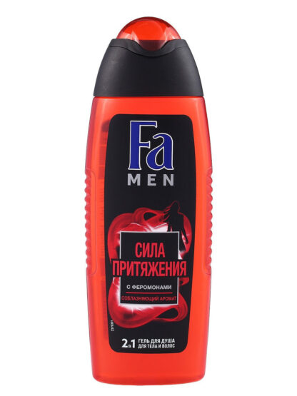 Fа men Сила притяжения с феромонами соблазняющий аромат 2 в 1 для тела и волос Гель для душа 250 мл