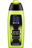 Fа men SPORT Взрыв энергии очищение против сухости кожи 3 в 1 Гель для душа тела волос лица 250 мл