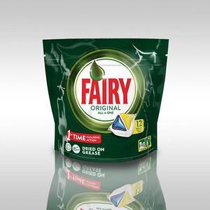 Fairy All in 1 Лимон Капсулы для авт посудомоечных машин 12 шт
