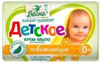 Весна С экстрактом календулы освежающее 0 + детское Крем-Мыло  90 гр