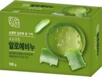 Корейское освежающее с экстрактом алоэ косметическое Мыло 100 гр