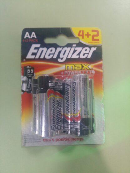 Energizer Max AA LR6 Bl-6 щелочные пальчиковые батарейки (цена за 1 шт)