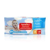 Bambolina с кремовым эффектом гипоаллергенные детские влажные салфетки 80 шт