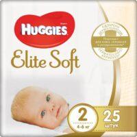 Huggies Elite soft подгузники 2 (4-6 кг) 25 шт