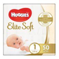 Huggies Elite soft подгузники 1 (3-5 кг) 50 шт