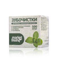 Market Fresh мята в коробке в индивидуальной упаковке Зубочистки 500 шт