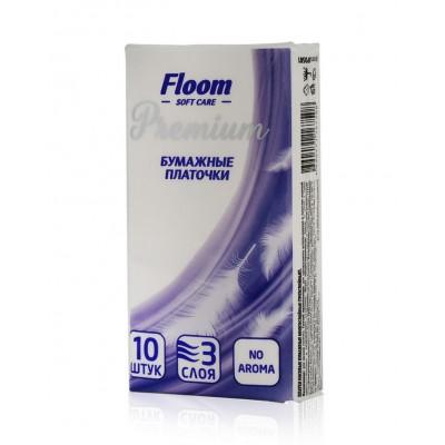 Floom Premium 3-х слойные Бумажные платочки 10 шт