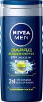 Nivea MEN заряд бодрости с экстрактом ментола 2 в 1 для тела и волос Гель для душа 250 мл