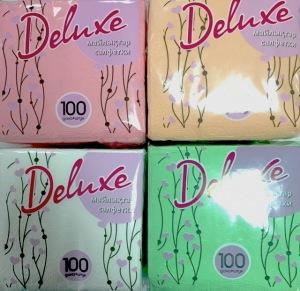 DeLuxe Салфетки бумажные в ассортименте 100 шт