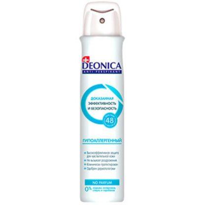 DEONICA гипоаллергенный NO PARFUM 48 ч защита спрей дезодорант 200 мл