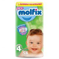 MOLFIX подгузники 4+ (9 - 16 кг) 54 шт