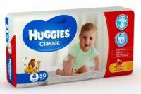Huggies Classic подгузники 4 (7-18 кг) 50 шт
