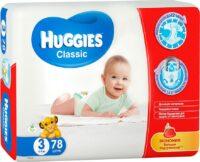 Huggies Classic подгузники 3 (4-9 кг) 78 шт