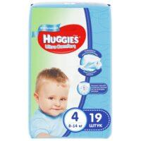 Huggies Ultra comfort подгузники для мальчиков 4 (8-14 кг) 19 шт