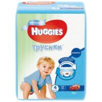 Huggies трусики для мальчиков 4 (9-14 кг) 17 шт