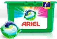 ARIEL Color для стирки белья средство жидкое в растворимых капсулах 18 шт