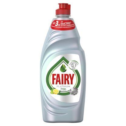 FAIRY Platinum Лимон и лайм средство для мытья посуды 650 мл