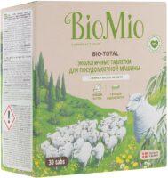 Bio Mio экологичные таблетки для посудомоечной машины 30 шт
